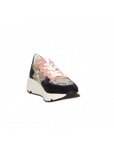 Farinacci - 2051 Scarpe stringate Blu/rosa